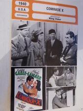 FICHE CINEMA ,COMRADE X, KING VIDOR,clark gable , hedy lamaar ,1940