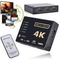 3D 1080p 5Port 4K HDMI Switch Switcher Selector Splitter Hub For HDTV DVD LCD
