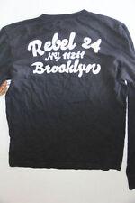 New True Religion Men Logo  Faded Black  Shirt 2XL XXL XXLARGE