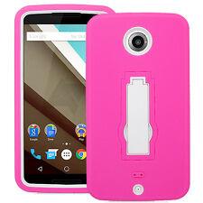 Motorola Nexus 6 Google Phone Hybrid Case w/Stand Cover Dual Layer XT1103