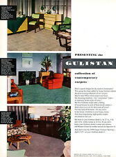 Drexel Furniture DUNBAR Tomlinson GULISTAN CONTEMPORARY CARPETS 1950 Magazine Ad