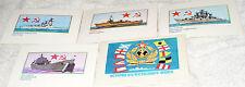 OLD SOVIET MILITARY SHIP POSTCARD SET OF 4 CARDS