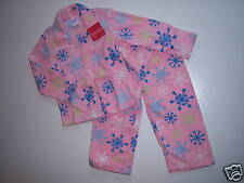 NWT Gymboree Snow Bunny 18-24 Months Cozy Pink Fleece Snowflake Pajamas