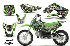 Decal Graphic Kit Wrap + # Plates For Kawasaki KLX 110 02-09 KX 65 02-18 MAD S G