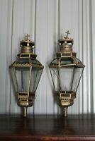 Enorme paire de lanternes de procession en métal doré XVIIIe Siècle