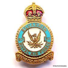 1940s WW2 RAF 57 Squadron Miller Enamel Brooch Badge - Royal Air Force KC