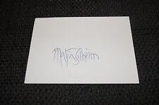 MARIA SOLHEIM signed Autogramm auf 10x15 cm Karteikarte InPerson LOOK