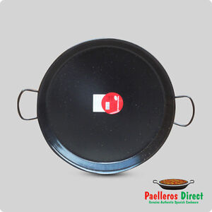 50cm Authentic Spanish Enamelled Steel Paella Pan