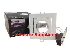 Robus R405 Low Voltage 12V LED MR16 50W Washer Sqaure White Gloss Tilt Adjust