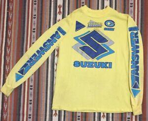 Vintage Suzuki Jersey Motocross Answer Gaerne Suzuki Apparel 80's