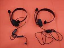 Microsoft Xbox 360 Headset Black With Noise-cancelling Headsets LOT OF 2