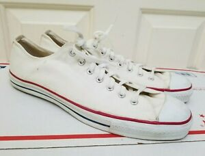 Vintage 80s 90s Converse All Star Low Top Shoes Sneakers Made in USA Canvas 15