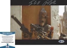 RIO HACKFORD SIGNED STAR WARS: THE MANDALORIAN IG-11 8x10 PHOTO BECKETT COA BAS