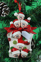Personalised Family of 2,3,4,5,6,7 Christmas Tree Ornament - Gift Decoration