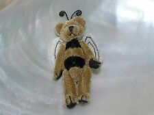 Boyd's Bears Miniature Brown Bumblee Bear with Jointed Arms & Legs Pin Brooch –