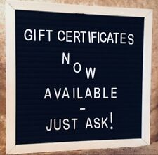 "Felt Letter Board 10""x10"" Black Party Cafe Sign Gift Store Shop Display Message"