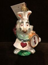 Christopher Radko The White Rabbit from Alice In Wonderland Ornament New In Box