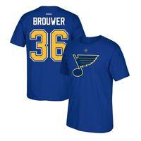 Troy Brouwer Reebok St. Louis Blues Premier Player Jersey Blue T-Shirt Men's