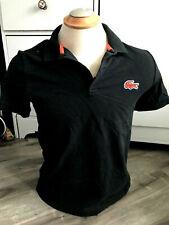 Lacoste Live L!ve Black Polo Shirt Slim Men's Size 4