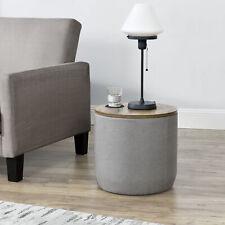 [en.casa] Beistelltisch Lampentisch Tisch mit abnehmbaren Deckel Ablage Grau