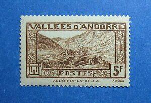1932 ANDORRA FRENCH 5F SCOTT# 61 MICHEL # 45 UNUSED                      CS26428