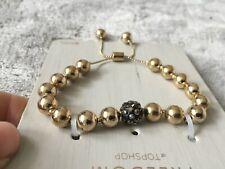 Gold tone + grey Bracelet by Topshop FREEDOM new