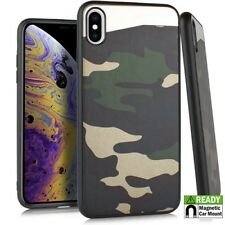 "For iPhone XS MAX 6.5"" - Slim Camouflage Hybrid Case Magnetic Back Plate Cover"