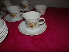 Vintage Corelle Indian Summer 6 Cups 6 Saucers Suger & Creamer No lid
