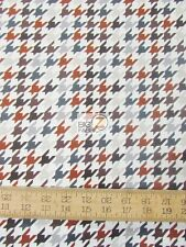 HOUNDSTOOTH BROWN/GRAY BY RILEY BLAKE COTTON FABRIC FH-2820 BY YARD CLOTHING