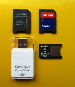 NEU: SanDisk Adapter | M2 zu MS Pro Duo | microSD zu SD | Pro Duo M2 zu USB
