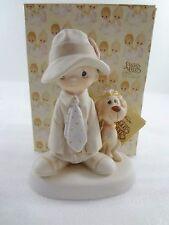 Precious Moments E-5212 To A Special Dad Boy & Dog Figurine NEW Box 1980 No Mark