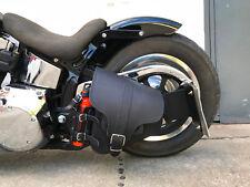 Harley Davidson Schwarz HADES Black Rahmentasche Seitentasche Fatbob 2018 leder