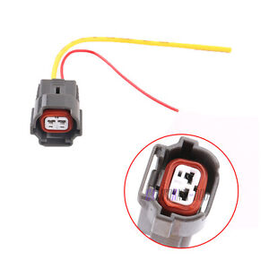 06A973722 Fuel Injector Connector Plug w/ Wire 2Pin For VW AUDI A4 A6 Skoda Seat