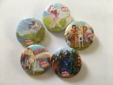 Mia and Me Fairies TV series Pin Badges set of 5 badges free postage