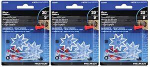3 Hillman 1 lb Clear Plastic Heavy Duty Wall Mirror Rosette Holder Anchor 122200