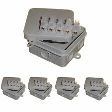 5 x CCTV junction box with 15A connector strip 65mm x 30mm square enclosure IP44