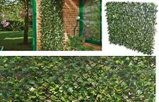 Area Fence Artificial Green Laurel Expanding Leaves 60x180