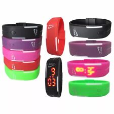 Nike Watch  LED Digital SILICONE BAND Wristwatches Multi colors adjustable