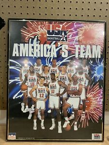 1992 Starline America's Team (Dream Team) Olympic Basketball Poster 20x16 Framed