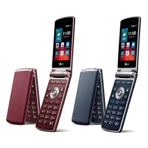 "4G LTE LG Wine Smart2 H410 Unlocked 1GB+4G 3.2"" Android Flip Phone Quad-core CPU"