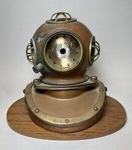 Vintage Highlands Quartz Divers Helmet Antique Mantle Decorative Clock Very Rare