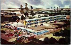 Vintage Modernaire Motel, Harbor Blvd, Disneyland, Anaheim, CA Postcard