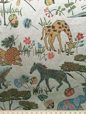 Drapery Upholstery Fabric Medium Wt. Textured Jacquard Jungle Animal Print