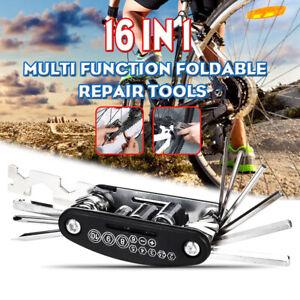 16 in 1 Multi-function Multi Bicycle Bike Maintenance Tool Repair Kit Cycling a