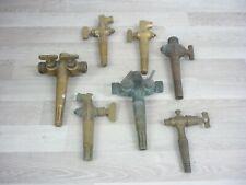 More details for job lot of vintage antique brass keg beer barrel taps g&c, m&b, beermasta