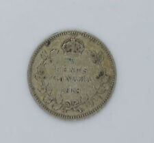 1918 Canadian silver coin 5 cents VG-F condition