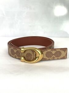 New Coach  F27292 Brown  PVC Leather Belt