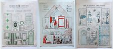 Lot of (3) Chatelaine Magazine Paper Doll Cut Out Pages by Jean Wylie c.1932-33