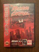 Maximum Carnage BLACK (Sega Genesis) Game And Box Only!
