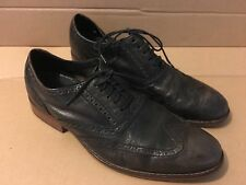 Cole Haan Grand OS Light Brown Leather Men's Wingtips Oxfords size 7 NICE